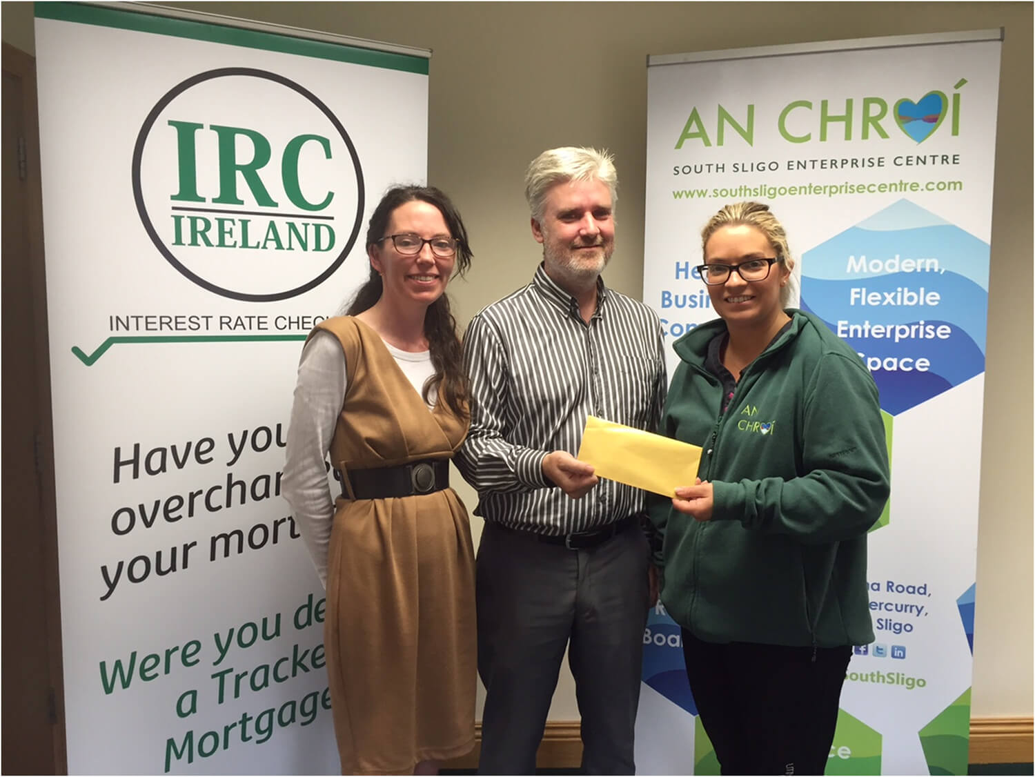 """Sligo Rose draws Enterprise Centre Winner"""