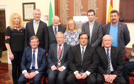 Attending the Civic Reception for Spanish Ambassador His Excellency José Maria Rodriquez-Coso (2nd from right front row) were