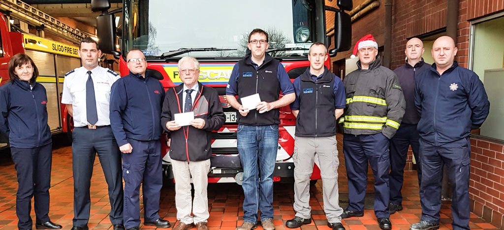 Fire Services donate to Sligo/Leitrim Mountain Rescue Service and the RNLI