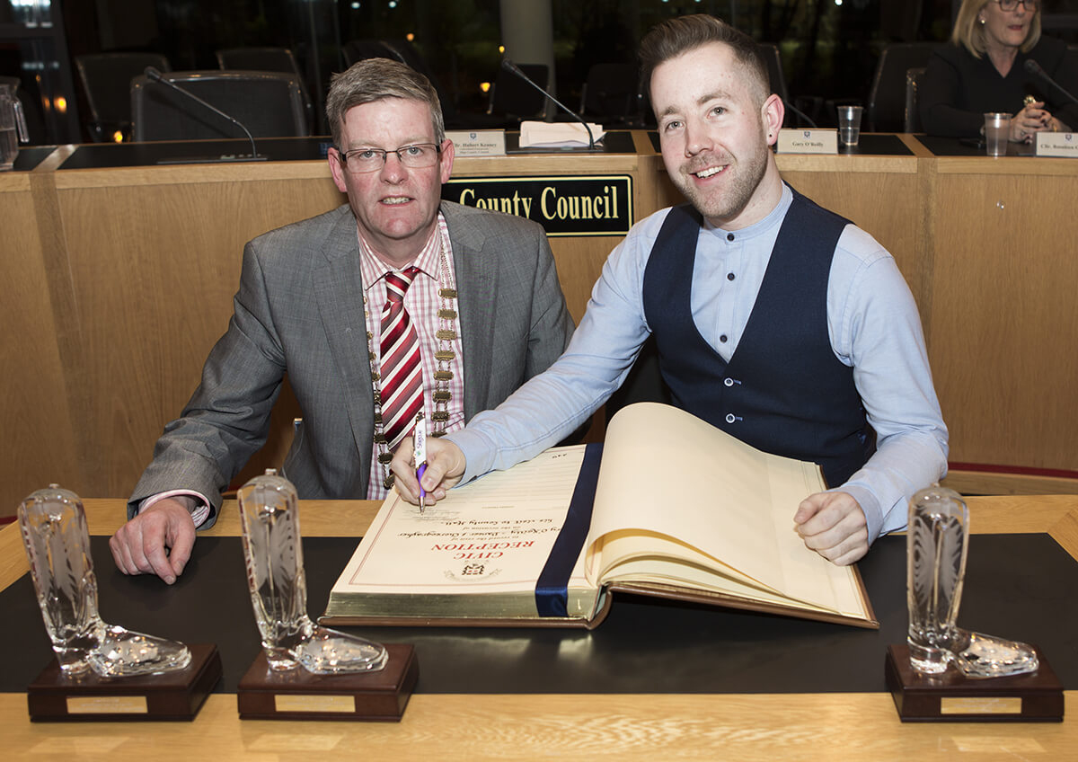 Award Winning Dancer Gary O'Reilly Honoured at County Hall