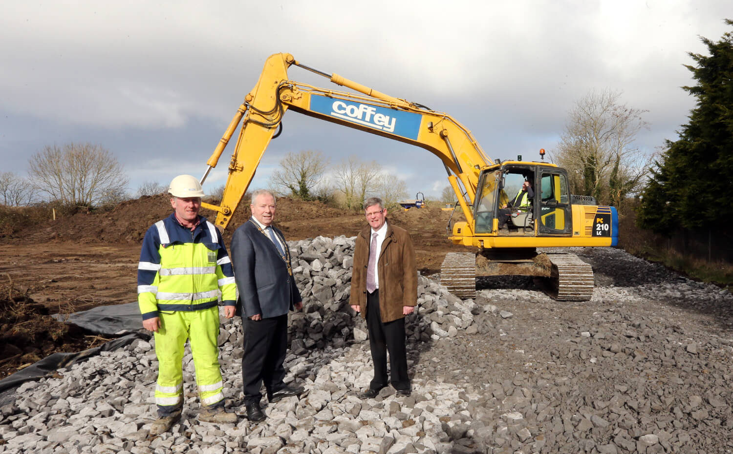 Cathaoirleach welcomes commencement of works at Grange Treatment Plant