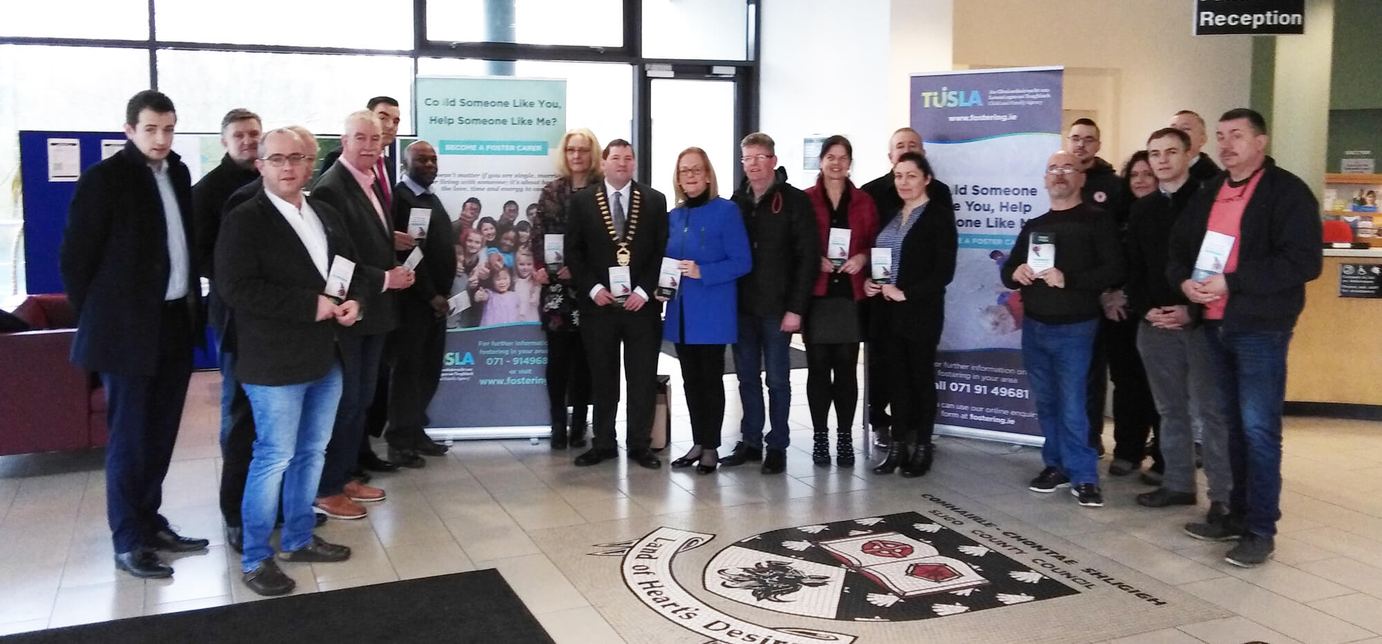 Foster Carer Information Stand Opened at County Hall