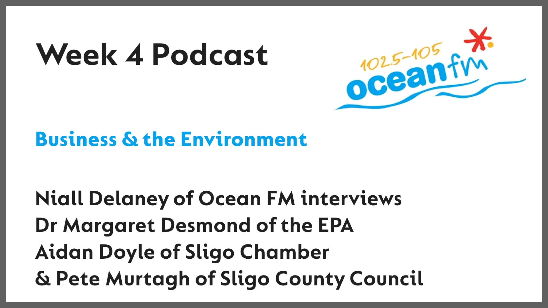 Business & the Environment - Interview on Ocean FM