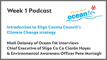 Listen to the launch of the climate change strategy on Ocean FM